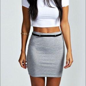 🐰HP🐰 Lily White Light Grey Mini Pencil Skirt